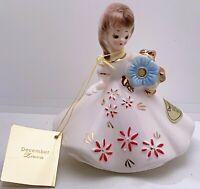 Vintage Joseph Originals December Birthday Girl Ceramic with Hang Tag MINTY!!