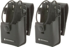 "Motorola Rln6302 2 Pack Leather Case w/ 3"" Swivel For Rdx 2 Way Radios New"