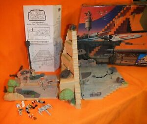Star Wars Action Fleet Yavin Rebel Base Playset 90% Complete, Extras Included
