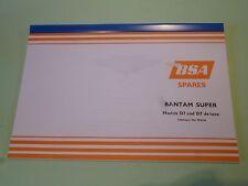 BSA BANTAM D7 & D7 DE LUXE SPARE PARTS BOOK CATALOGUE 00-5124