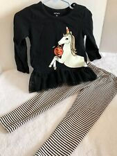 Girls 2T Halloween Carter's 2 Piece Outfit 2T Unicorn  Glittery Mane Adorable
