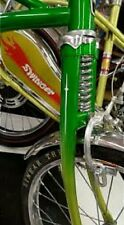 2 White Bicycle Stickers - Huffy Rail Wheel Judge Muscle Bike FORK DART DECAL
