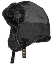 hat NEXT with earflaps military gray size 57-58