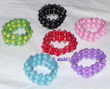 2 COLOUR BEADS BRACELETS STRETCH ELASTICATED PARTY BAG BRACELET/CHILDRENS/CHILD