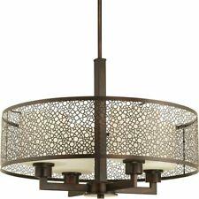 Progress Lighting Mingle 17-in Antique Bronze Single Cylinder Pendant