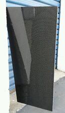 "Real Carbon Fiber Fiberglass Panel Sheet 6""×24""x1/8"" Glossy Both Sides"