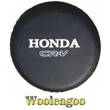 "Black 14"" or 15"" Spare Tire Cover Soft Wheel Cover with Silver Honda CR-V Design"