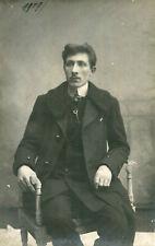 Carte PHoto d'un homme par studio Gliot de ANVERS ANTWERP Belgique