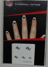 NFL DETROIT LIONS 20 TEMPORARY FINGERNAIL TATTOOS FAST FREE SHIPPING