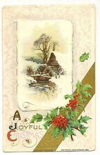 1910 John Winsch Christmas Mill with Holly