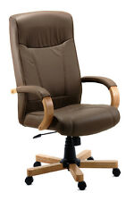 Richmond Luxury Brown Leather Executive Office Chair by Teknik  Free Delivery!