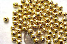 100 Gold Plated Smooth Saucer Beads 4.5MM