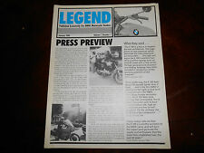 BMW January 1984 Legend Dealers Motorcycle Press Review Volume 1 Number 1 K100