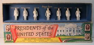 1950's Marx PRESIDENTS OF THE UNITED STATES 2nd Series playset figures boxed