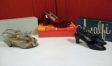 Lot 3 Pair Womens Vintage Heels Size 6 Amalfi & Red Cross Shoes. Free Shipping !