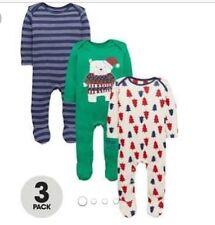 Ladybird 3pack Boys Christmas Sleepsuits 0-3months ⭐️BNWT⭐️