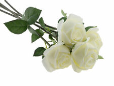 "USA SELLER 23"" Real Touch Artificial Roses Latex flowers (Pack of 4)"
