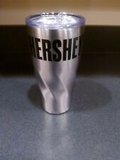 HERSHEY'S LOGO HOT COLD COPPER VACUUM INSULATED THERMOS TRAVEL MUG NWOT NEW!