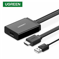 UGREEN HDMI to DP DisplayPort Display Converter 4Kx2K + USB Power for HDTV LCD
