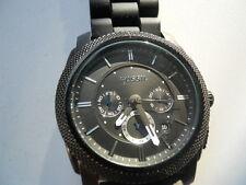 Fossil chronograph men's rubber band,quartz,Analog& battery dress watch.Fs-4487