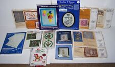 LOT OF 14 Flowers Hearts Precious Moments Embroidery Crewel Stitch Kits NEW