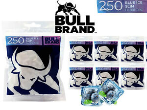 1000x BULL Brand BLUE ICE *Berry & Menthol* Flavoured Filter Tips Bag Smoking UK