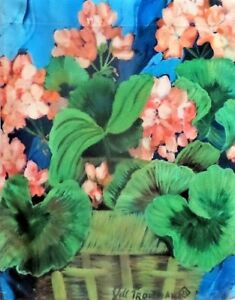 Salmon Geraniums Garden Flag by Toland #831, Floral