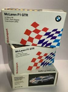LE MANS VINTAGE HERPA 1.87 - McLAREN F1 GTR - BMW WORKS GT RACE MODELS SET OF 3