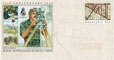 Australia 1990 41c Pre Stamped Envelope 75Th Ann Royal Australian Survey Corps