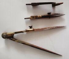 antico compasso-balaustrino in ottone