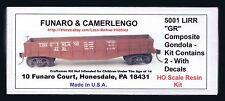"LMH Funaro F&C 5001  LONG ISLAND 1902-50's LIRR ""GR"" Composite Gondola 2-CAR KIT"