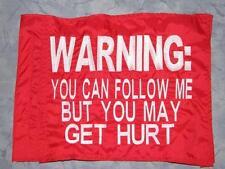 Custom Warning Hurt  Safety Flag 4 Offroad ATV UTV Bike Jeep Dune Whip Pole