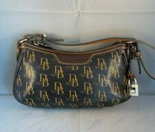 Vintage Dooney Bourke Small Coated Cotton Signature Charm handbag Retail $188