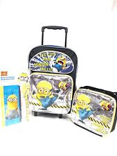 DESPICABLE ME 2 MINION EYE GOT MAD SKILLS ROLLING BACKPACK,LUNCHBOX,&STATIONARY