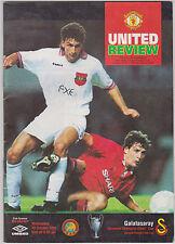 Programme Manchester United v Galatasaray Istanbul 20-10-1993 UEFA CL