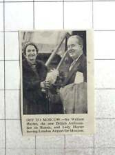 1953 Sir William And Lady Hayter Leaving London Airport For Moscow