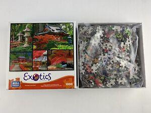 NEW Open Box Exotics Puzzle, Japanese Gardens 1000 Pieces  50935