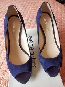 Scarpe Donna  Elena Mirò Tacco 12 Camoscio Blu N 40. Nuove.