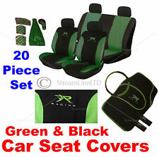 20 Piece Green XR Racing Car Seat Steering Wheel Covers Cover Mat Gear Knob Set