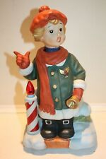 """Melody In Motion """"Christmas Caroler Girl"""" Sings, Lights Up and Head Moves"""