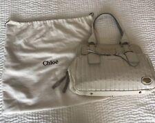 100% genuine Chloé Bay handbag, cream leather, gold hardware with dustbag.