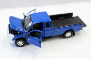 2016 Ford F-250 Dually Lariat Pickup Truck 1:64 Diecast Model Opened doors Blue