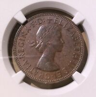UK Great Britain 1964 One Penny NGC AU 55 BN