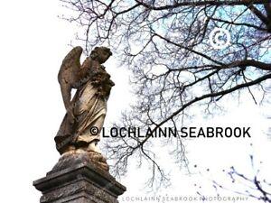 """Guardian Angel"" 8"" x 10"" photographic print by Lochlainn Seabrook Cemetary Art"