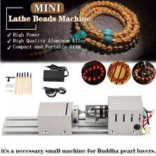 New listing Diy Mini Metal Lathe Wood Beads Lathe Polisher Milling Machine Woodworking Tools