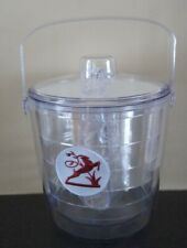 New 2.5Qt Tervis Tumbler Ice Bucket with Lid & Tongs-Reindeer