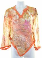 PEPE JEANS Womens Top Blouse Size 6 XS Multicoloured Cotton  EF02