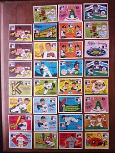 1980 Fleer Laughlin World Series Team Stickers Lot of 31