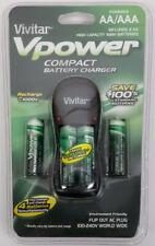 Vivitar VPower Compact Battery Charger NiMH AA AAA