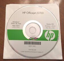 HP Officejet J5700 Starter CD - Windows XP, 2000, Vista / Mac OS X V 8.0